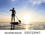 Girl Stand Up Paddle Boarding ...