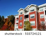 apartment buildings and autumn...   Shutterstock . vector #533724121