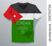 jordan shirt   national shirt... | Shutterstock .eps vector #533724724