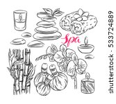 beautiful set of spa... | Shutterstock .eps vector #533724889