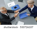 stylish young job seeker in an... | Shutterstock . vector #533726107
