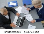 two businessmen in a meeting... | Shutterstock . vector #533726155