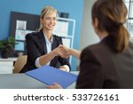 young blond woman in a business ... | Shutterstock . vector #533726161