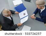 employer interviewing a young... | Shutterstock . vector #533726257