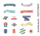 banner and ribbon set of vector ... | Shutterstock .eps vector #533729845