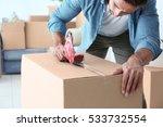 house moving concept. closeup... | Shutterstock . vector #533732554