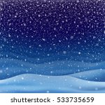 winter landscape  background... | Shutterstock .eps vector #533735659