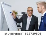 senior manager in a discussion...   Shutterstock . vector #533739505