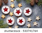 Jelly Christmas Linzer Cookies...
