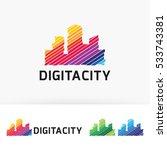 digital city  building  art ... | Shutterstock .eps vector #533743381