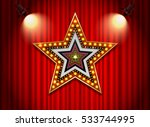 brightly theater glowing retro... | Shutterstock .eps vector #533744995