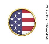 round gold badge with usa flag | Shutterstock .eps vector #533745169