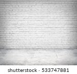 room interior with white brick... | Shutterstock . vector #533747881