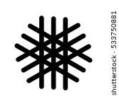 snowflake black icon. vector... | Shutterstock .eps vector #533750881