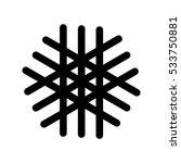 snowflake black icon. vector...   Shutterstock .eps vector #533750881