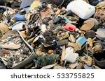 Small photo of Pile of garbage from the sea - alluvium