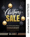 xmas sale gold text banner.... | Shutterstock .eps vector #533757325