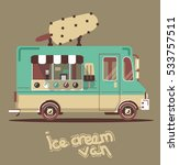cool cute vector flat van... | Shutterstock .eps vector #533757511