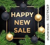 newy year sale poster or promo... | Shutterstock .eps vector #533759269