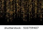 sparkling lines of gold... | Shutterstock .eps vector #533759407