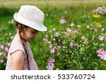 girl on the meadow feast one's... | Shutterstock . vector #533760724