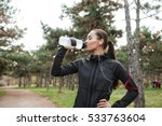 photo of young lady runner in... | Shutterstock . vector #533763604