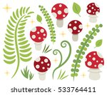 toadstool amanita muscaria red... | Shutterstock .eps vector #533764411