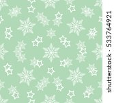 white star and white snowflake... | Shutterstock .eps vector #533764921