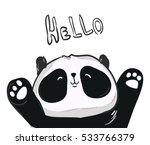 vector panda  illustration...