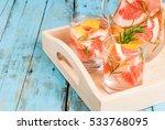 refreshing summer detox... | Shutterstock . vector #533768095