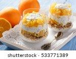 yogurt dessert with muesli ... | Shutterstock . vector #533771389