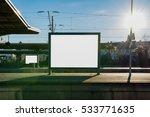 train station billboard blank... | Shutterstock . vector #533771635