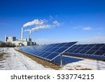 energy   rack of solar panels... | Shutterstock . vector #533774215