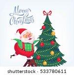 cute cartoon santa claus... | Shutterstock .eps vector #533780611