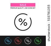 vector sale icon. discount ... | Shutterstock .eps vector #533781355