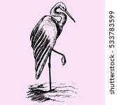 Heron Doodle Style Sketch...