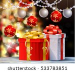 christmas tree light background | Shutterstock .eps vector #533783851