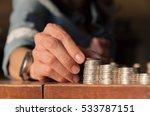 close up hand putting money... | Shutterstock . vector #533787151