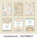 wedding invitation card arabic... | Shutterstock .eps vector #533788657