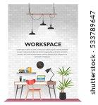 creative office interior in... | Shutterstock .eps vector #533789647