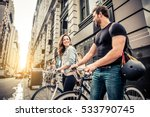 couple of cyclist in new york   ... | Shutterstock . vector #533790745