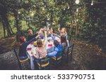 group of friends at restaurant... | Shutterstock . vector #533790751