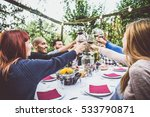 group of friends at restaurant... | Shutterstock . vector #533790871