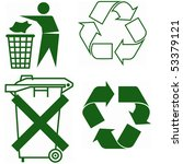 signs for recycling ... | Shutterstock . vector #53379121