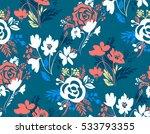 vector floral seamless pattern. ...   Shutterstock .eps vector #533793355