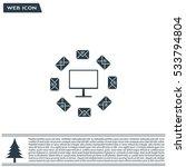 mail computer  vector... | Shutterstock .eps vector #533794804