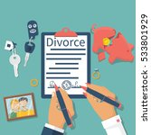 divorce concept. meeting... | Shutterstock .eps vector #533801929