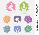 vector colorful icons set with... | Shutterstock .eps vector #533803039