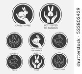 no animals testing icon design. ... | Shutterstock .eps vector #533803429