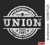 t shirt print design. union... | Shutterstock .eps vector #533807125
